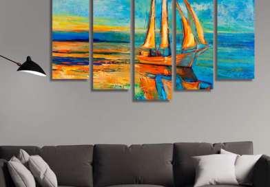 Идеи за декориране на стените с абстрактни картини и колажи